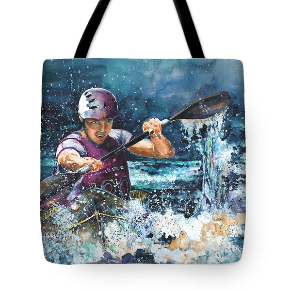 Water Fight Tote Bag by Miki De Goodaboom