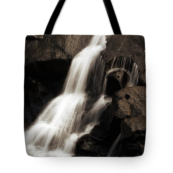 Water Flow Tote Bag by Les Cunliffe