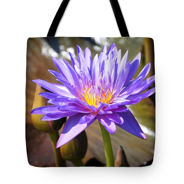 Tote Bag featuring the photograph Water Flower 1004d by Marty Koch