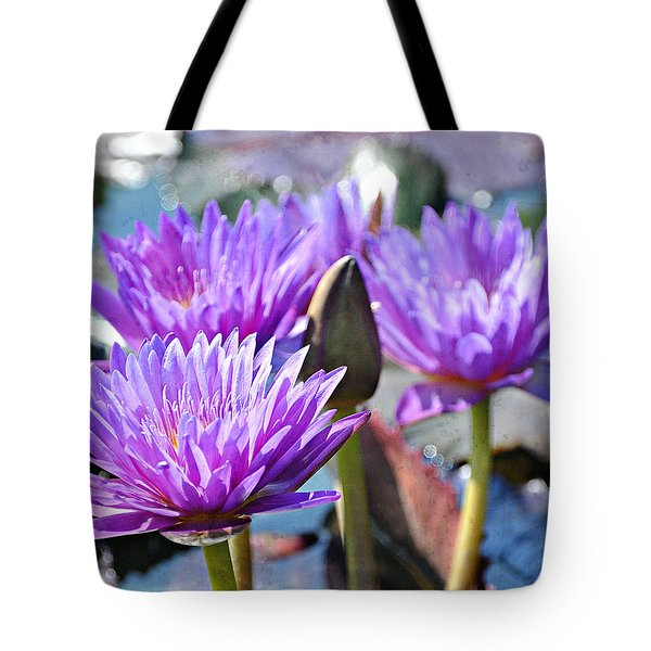 Tote Bag featuring the photograph Water Flower 1006 by Marty Koch