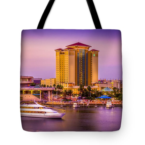 Water Front Tampa Tote Bag by Marvin Spates