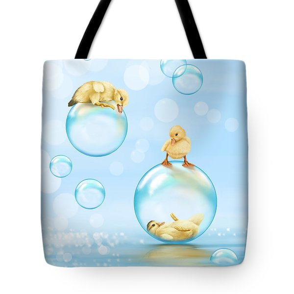 Water Games Tote Bag by Veronica Minozzi