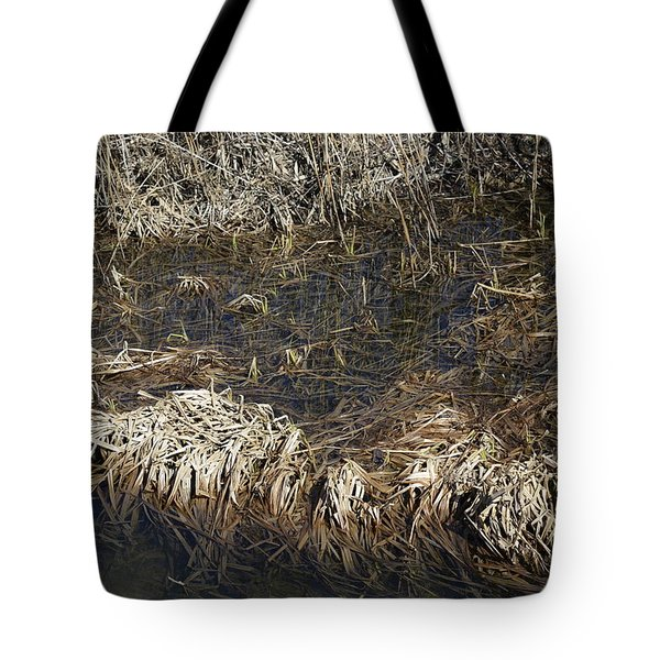 Dried Grass In The Water Tote Bag