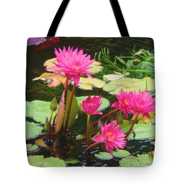 Water Lilies 008 Tote Bag by Robert ONeil