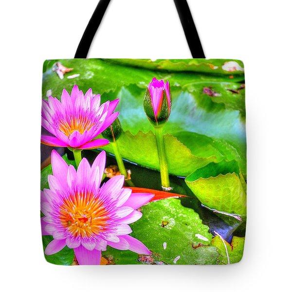 Water Lilies 2 Tote Bag by Richard Zentner