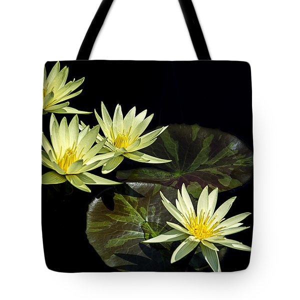 Water Lilies In Yellow Tote Bag
