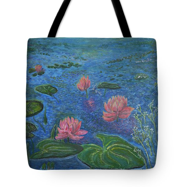 Water Lilies Lounge 2 Tote Bag by Felicia Tica