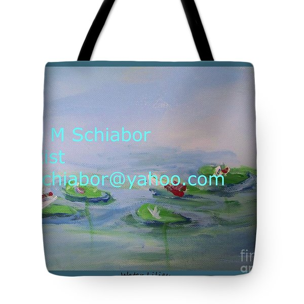 Water Lilies Print Tote Bag by Eric  Schiabor