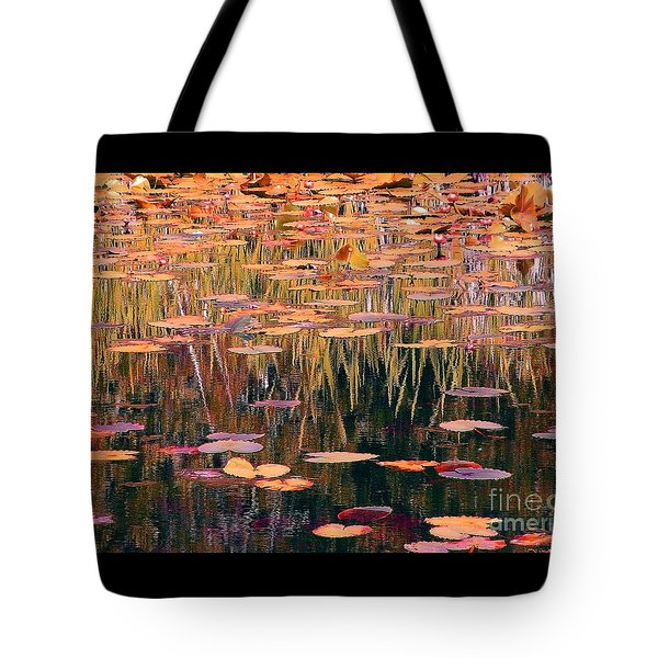 Water Lilies Re Do Tote Bag by Chris Anderson