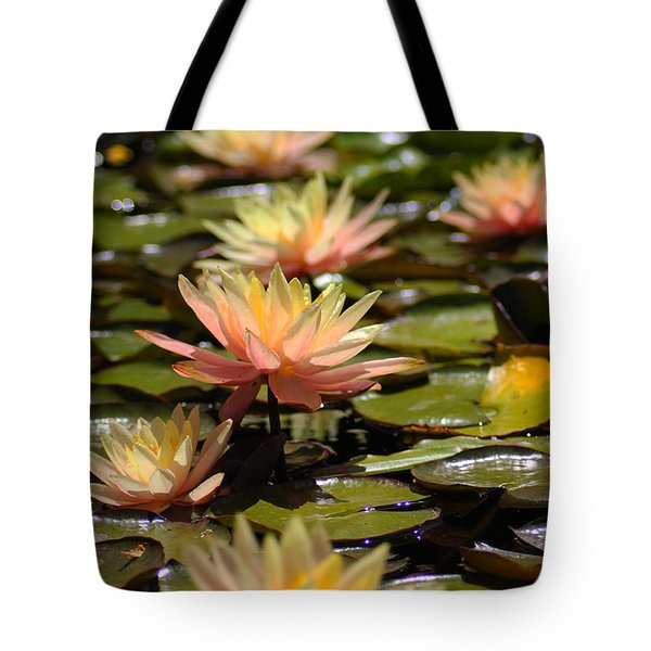 Tote Bag featuring the photograph Water Lilies by Richard Stephen