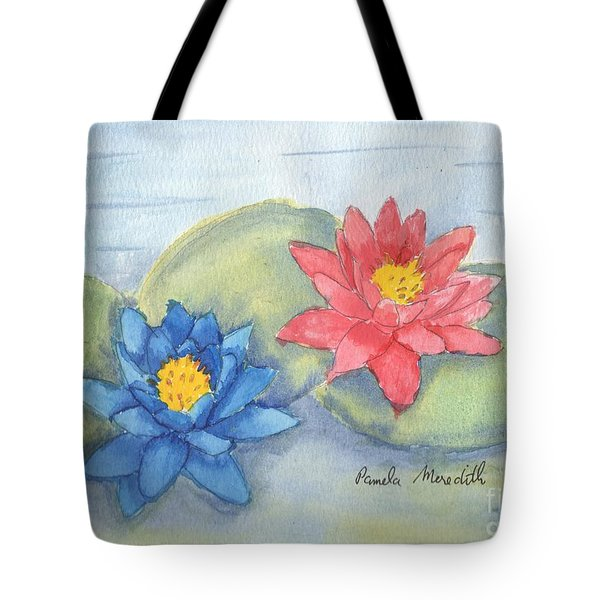 Water   Lillies  Tote Bag by Pamela  Meredith