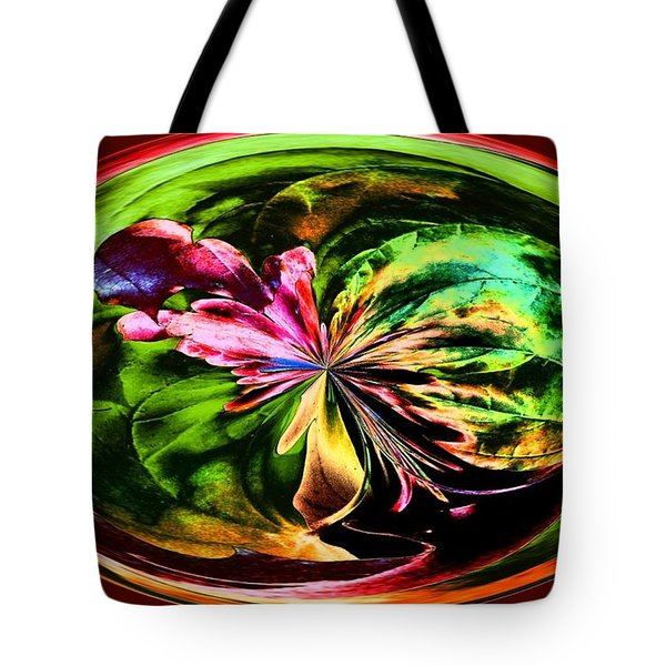 Water Lily Abstract Art Tote Bag by Annie Zeno