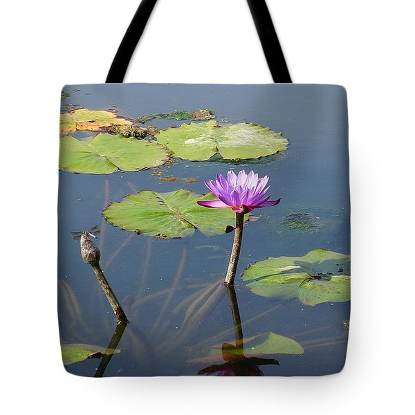 Water Lily And Dragon Fly One Tote Bag by J Jaiam