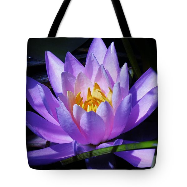 Water Lily Blues Tote Bag by Sherman Perry