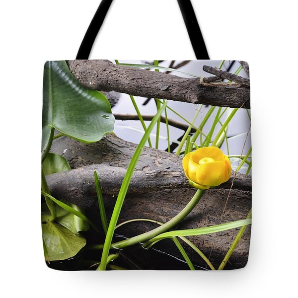 Tote Bag featuring the photograph Water Lily by Cathy Mahnke