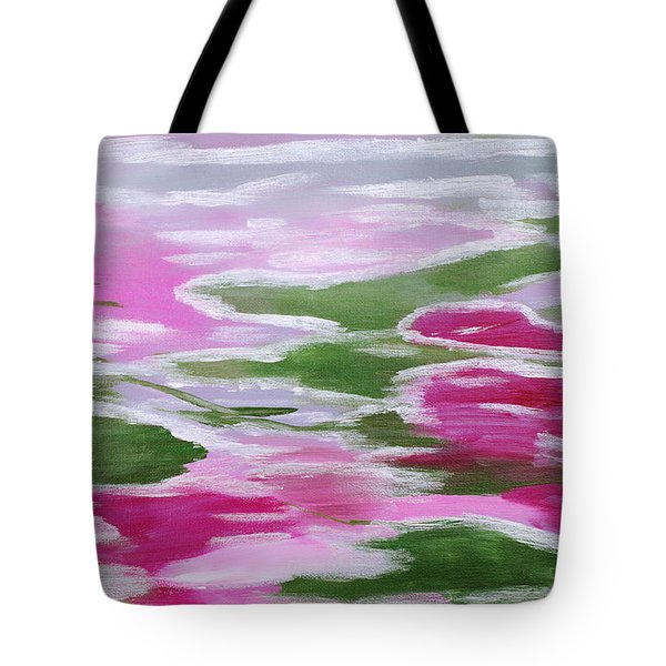 Water Lily Tote Bag by Donna Blackhall