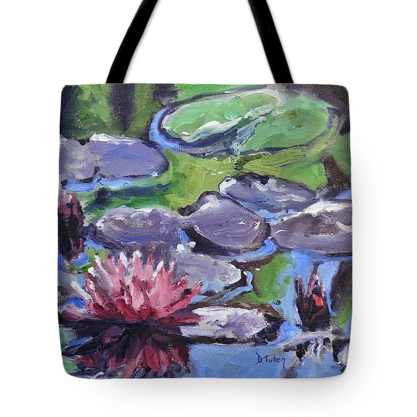Water Lily Tote Bag by Donna Tuten