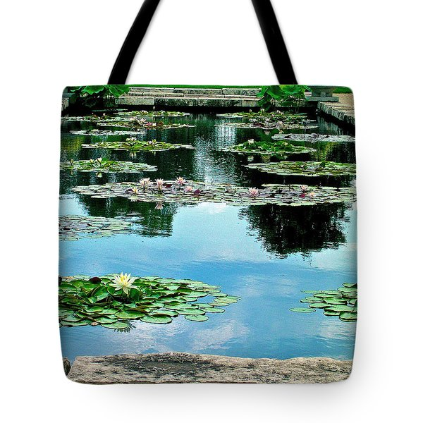 Water Lily Garden Tote Bag