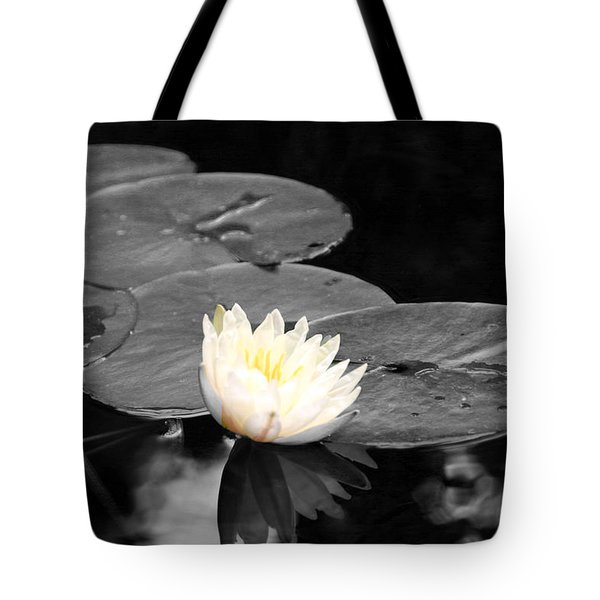Tote Bag featuring the photograph Water Lily by Phil Mancuso