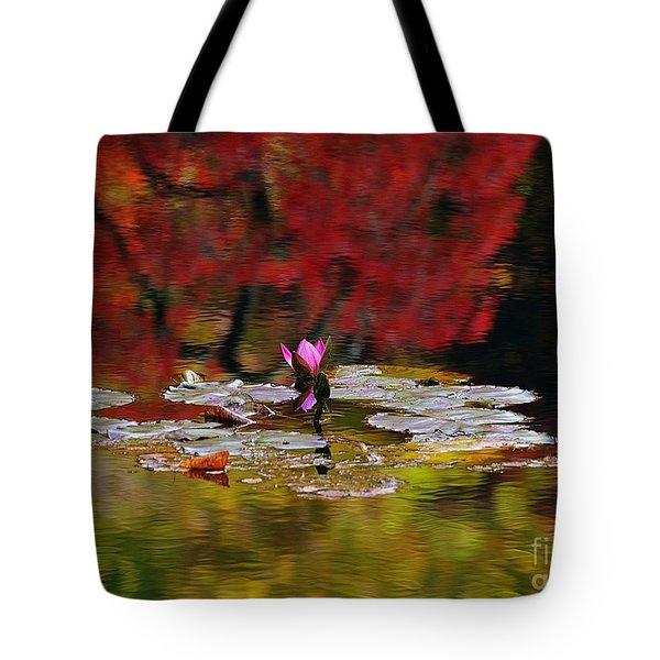 Water Lily Reflection Tote Bag by Lisa L Silva