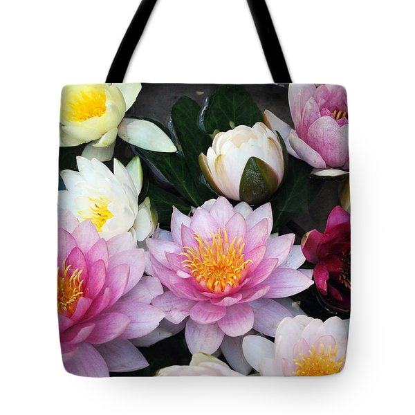 Tote Bag featuring the photograph Water Lily Series -2  by Haleh Mahbod