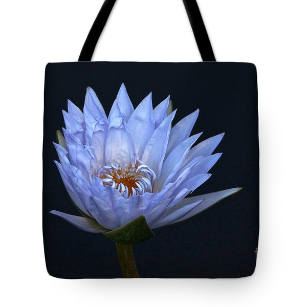 Water Lily Shades Of Blue And Lavender Tote Bag