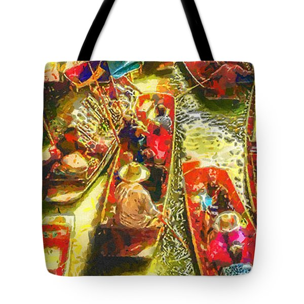 Water Market Tote Bag