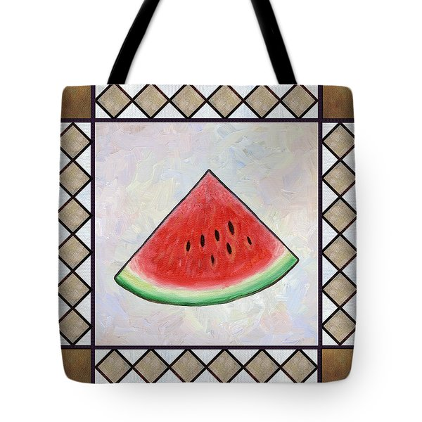 Water Melon Slice Tote Bag by Linda Mears