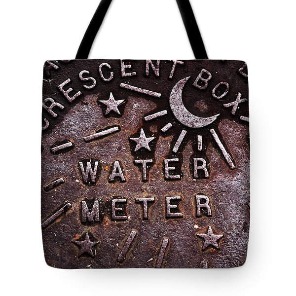 Water Meter Tote Bag by John Rizzuto