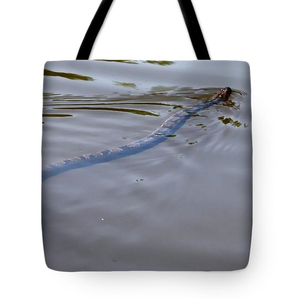 water Moccasin  Tote Bag by Debra Forand
