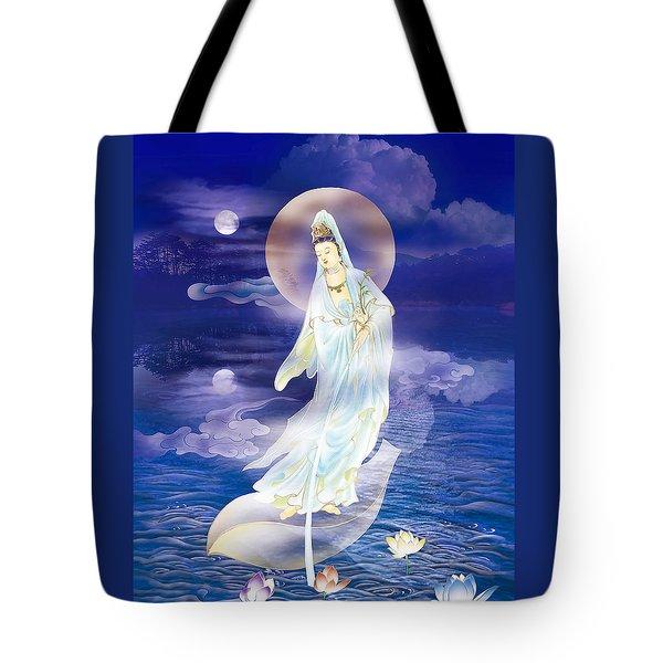 Water Moon Avalokitesvara  Tote Bag