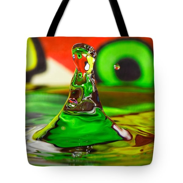 Tote Bag featuring the photograph Water Mountain by Peter Lakomy