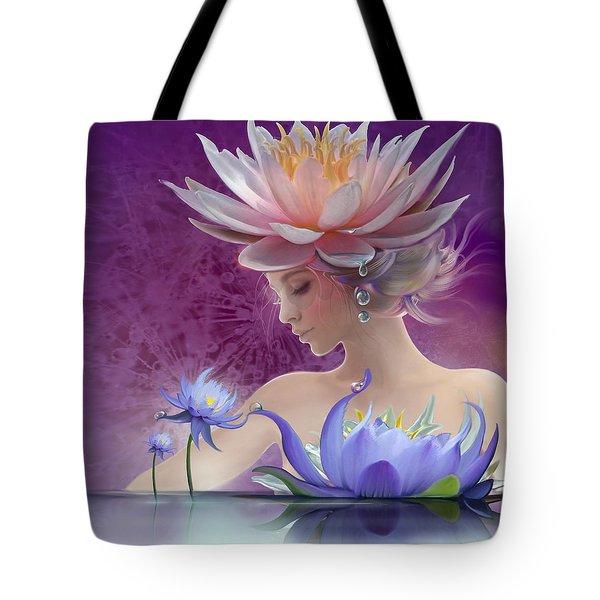 Water Of Life - In Violet Tote Bag