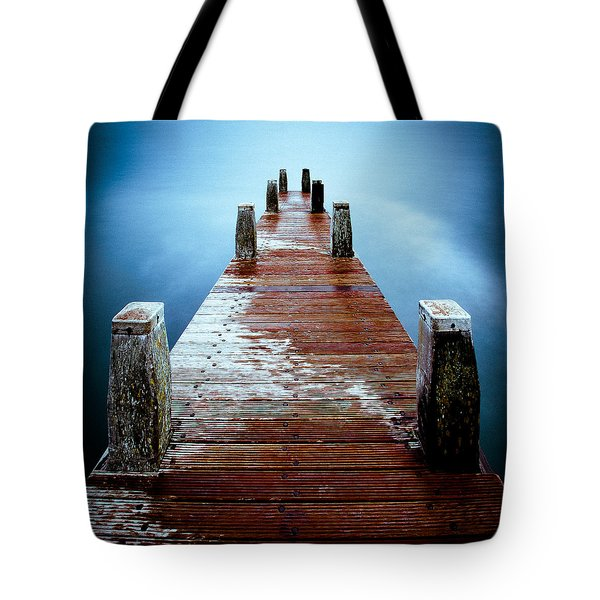 Water On The Jetty Tote Bag by Dave Bowman
