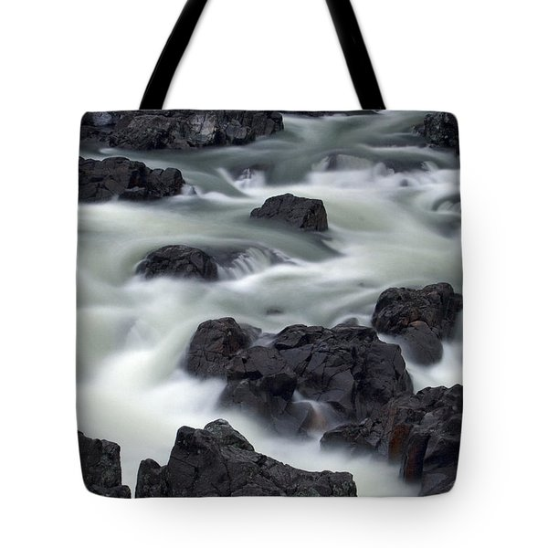 Water Over Rocks Tote Bag