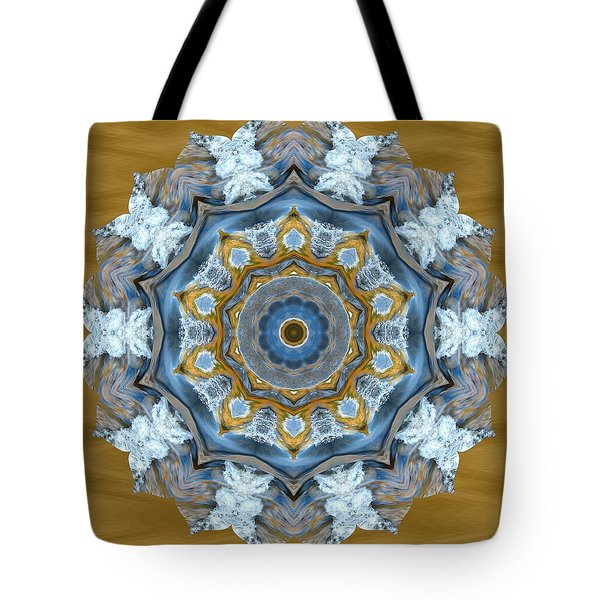 Water Patterns Kaleidoscope Tote Bag