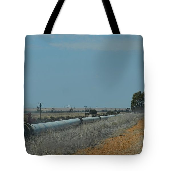 Water Pipeline Tote Bag