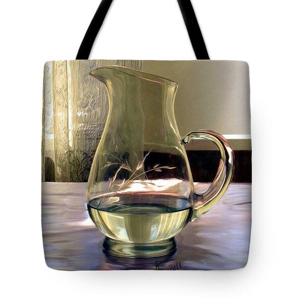 Water Pitcher Tote Bag