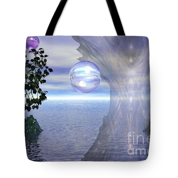 Tote Bag featuring the digital art Water Protection by Kim Prowse