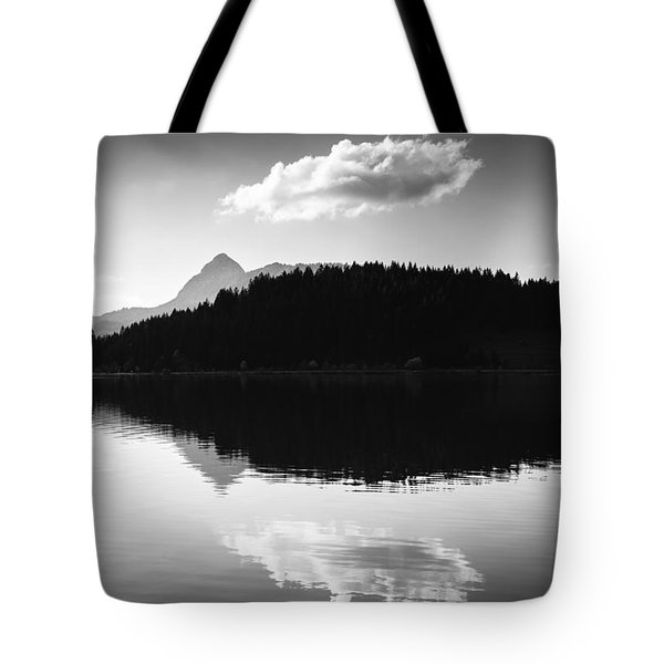 Water Reflection Black And White Tote Bag