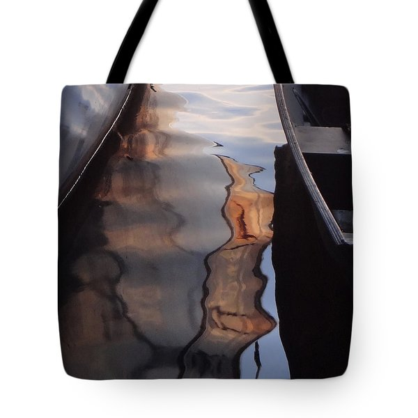 Water Reflections Abstract Tote Bag