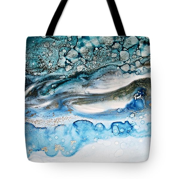 Water Ripples And Silver Linings Alcohol Inks Tote Bag by Danielle  Parent