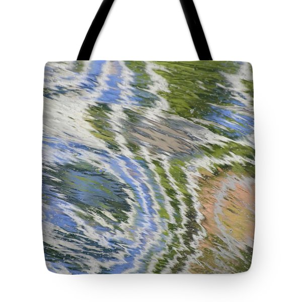 Water Ripples In Blue And Green Tote Bag