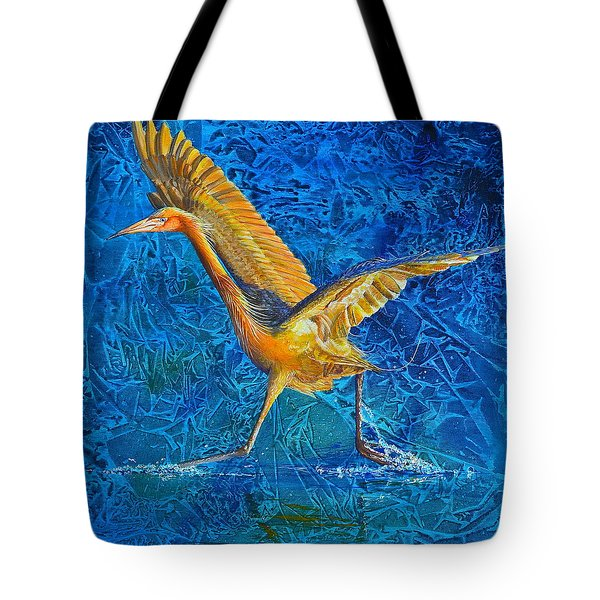 Water Run Tote Bag