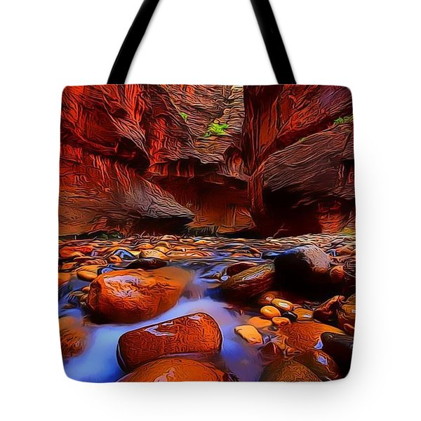 Water Runs Through It Tote Bag