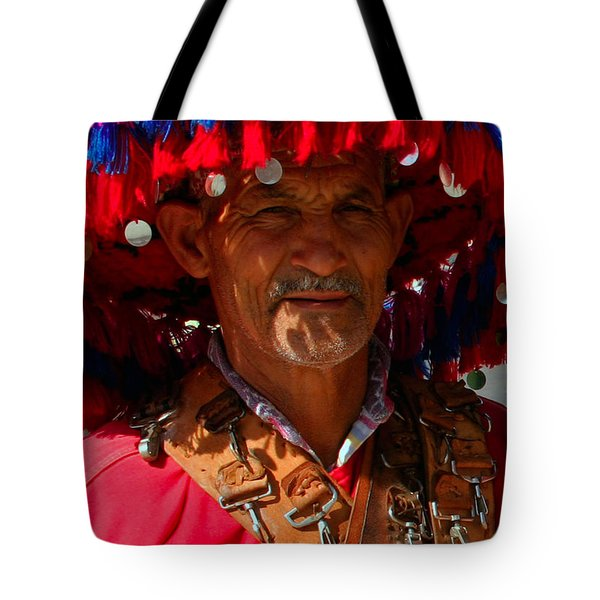 Water Seller Marrakesh Morocco Tote Bag by Ralph A  Ledergerber-Photography