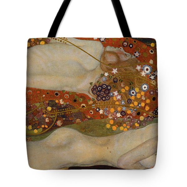 Water Serpents II Tote Bag by Gustav Klimt