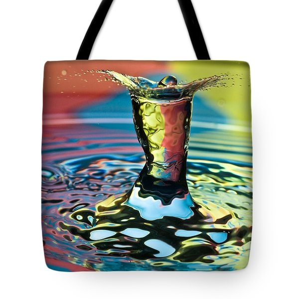 Water Splash Art Tote Bag