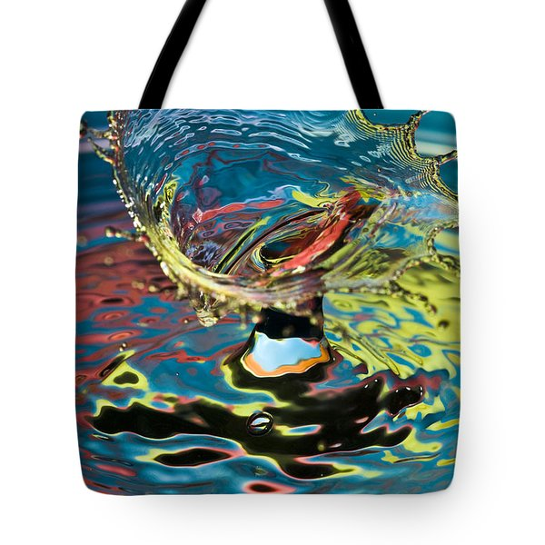 Water Splash Exploding Tote Bag