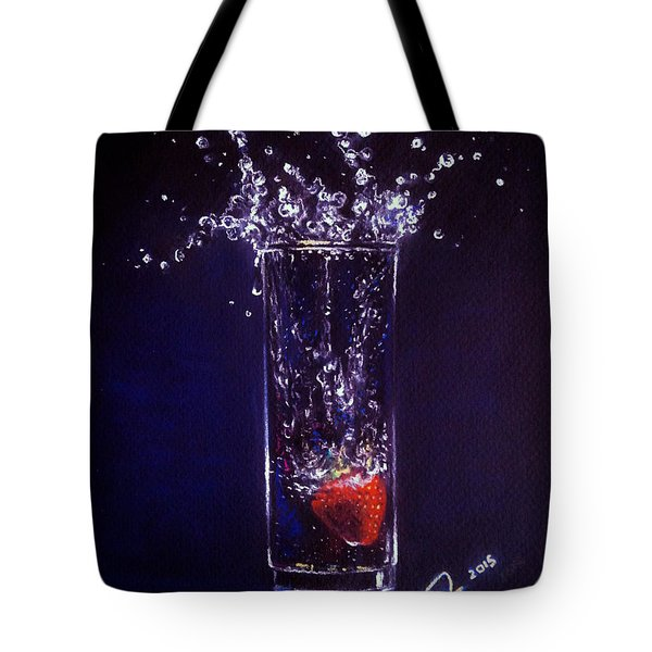 Water Splash Reflection Tote Bag